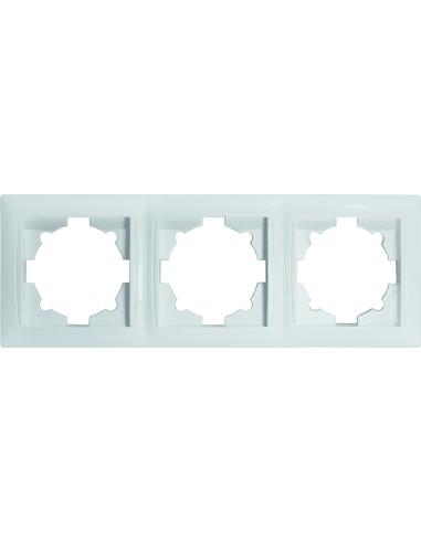 Рамка 3-местная Титан белая