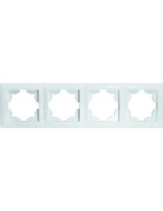 Рамка 4-местная Титан белая