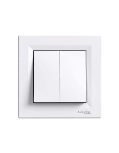 Кнопка Schneider Asfora 2кл белый EPH1100121