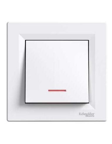Выключатель Schneider Asfora 1кл с подсветкой белый EPH1400121