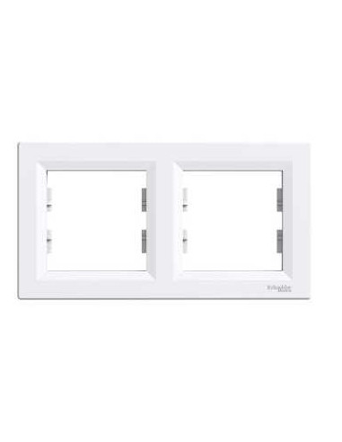 Рамка Schneider Asfora 2-местная горизонтальная белая EPH5800221