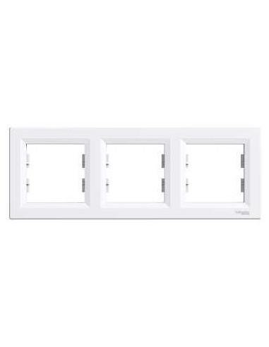 Рамка Schneider Asfora 3-местная горизонтальная белая EPH5800321