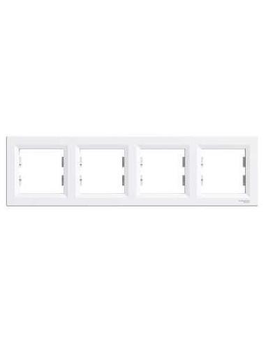 Рамка Schneider Asfora 4-местная горизонтальная белая EPH5800421