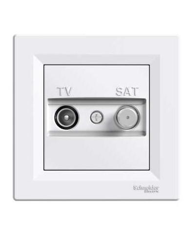 Розетка Schneider Asfora TV-SAT концевая белая EPH3400121